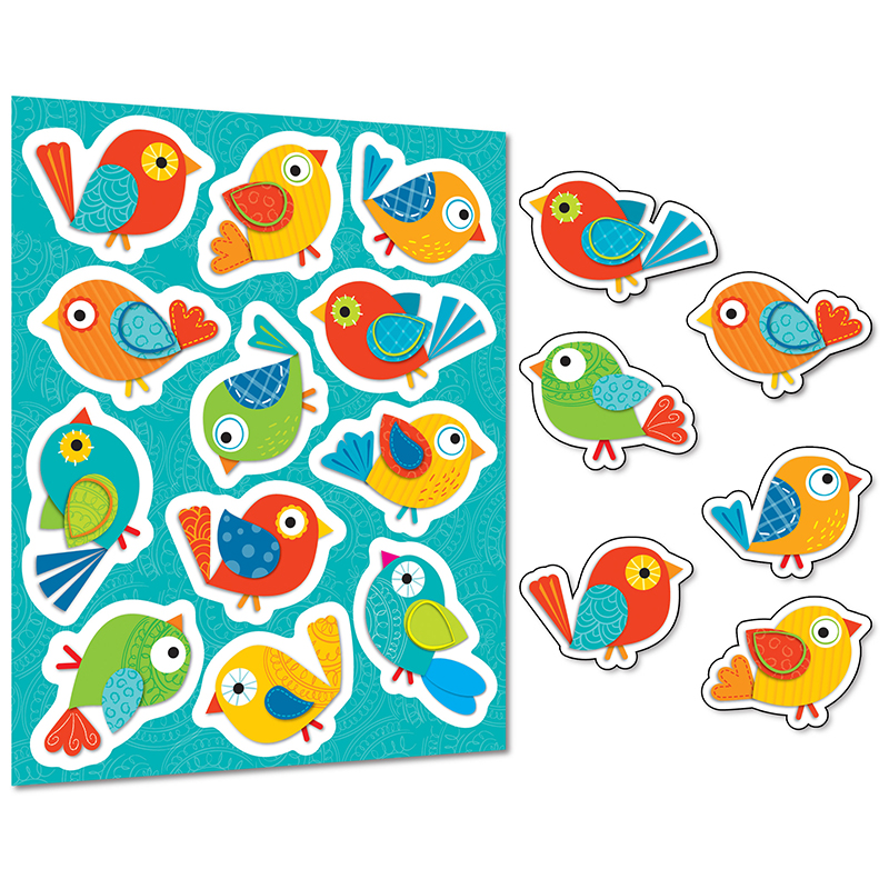 BOHO BIRDS SHAPE STICKERS