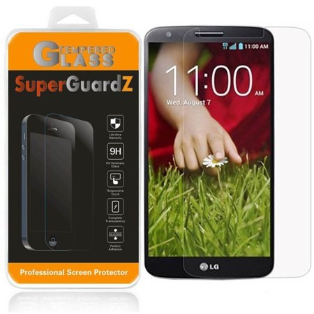 [2-Pack] For LG G2 - SuperGuardZ Tempered Glass Screen Protector, 9H, Anti-Scratch, Anti-Bubble, (Best Glass Screen Protector For Lg G2)