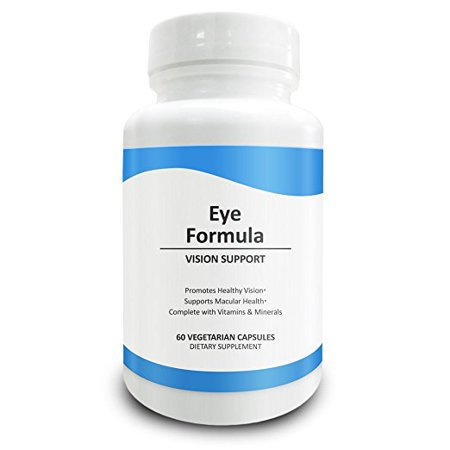 Pure Science Eye Formula - Lutein and Zeaxanthin enhanced with Bilberry Proprietary Blend and Vitamins - Perfect Supplements for Eye Support - 60 Vegetarian Capsules - Easier to swallow than Tablets