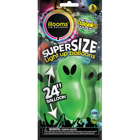 Illooms Super Size Aliens Light Up Balloons 5 Pack Walmartcom