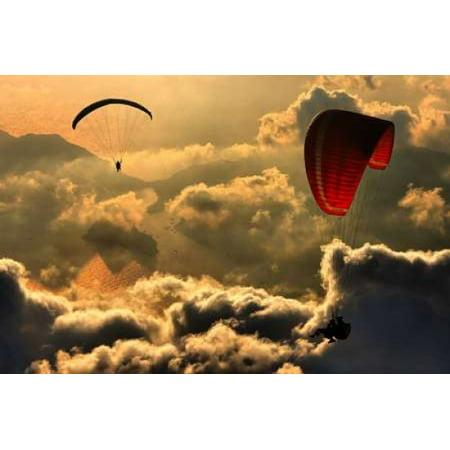Paragliding 2 Canvas Art - Yavuz Sariyildiz (20 x 28)