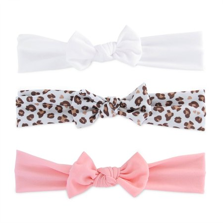 Newborn Baby Girls 3 Pack Cheetah Headwraps, NB - Baby Cheetah Games