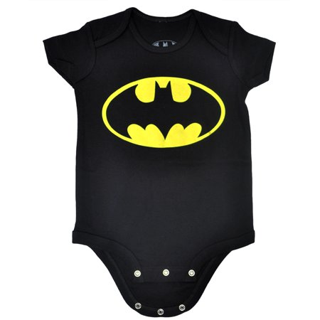 Batman Infant Baby Boys One Piece Romper Black - Batman Onsie