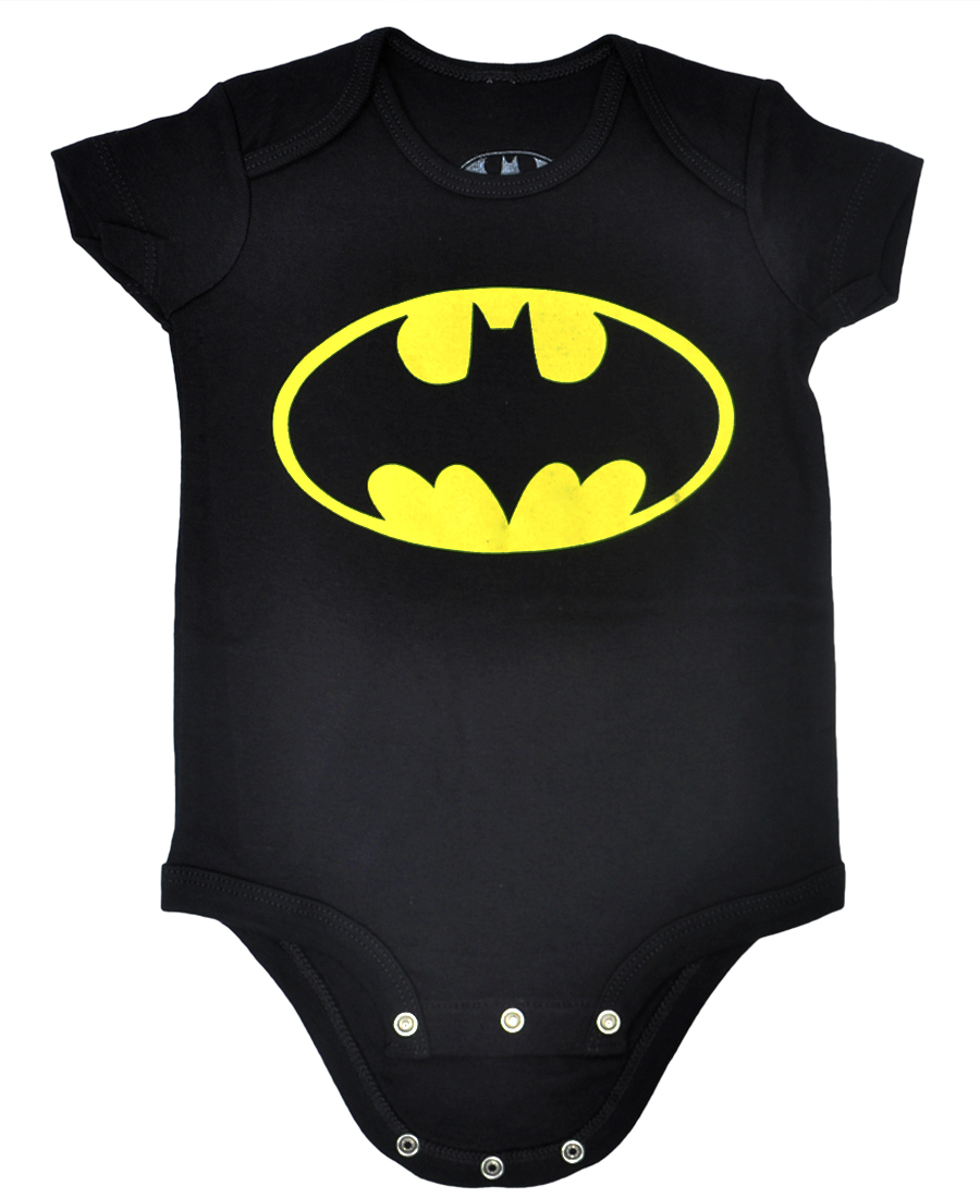 Batman Infant Baby Boys One Piece Romper Black 24-Months