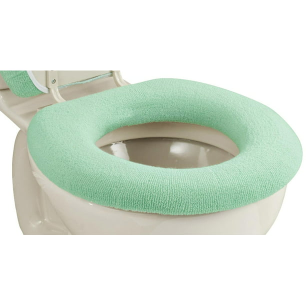 Elastic Cushioned Toilet Seat Cover Universal Fit Green   Walmart