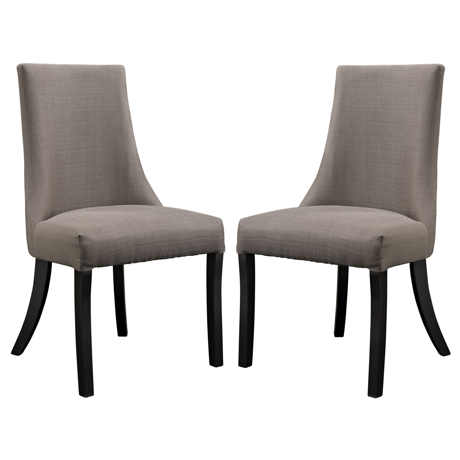 Modern Contemporary Kitchen Dining Side Chair Set of Two Gray
