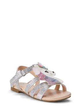 Wonder Nation Unicorn Shimmer Sandal (Toddler Girls)