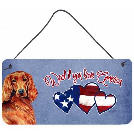 Woof if you love America Irish Setter Wall or Door Hanging Prints LH9515DS612