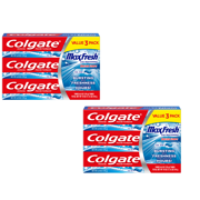Colgate Max Fresh Toothpaste with Mini Breath Strips, Cool Mint - 6.0 Ounce (6 Pack)