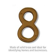 SalsburyIndustries 1220A-8 4 in. Solid Brass Number, Antique - 8