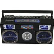 Studebaker SB2145B 80s Retro Street Bluetooth Boom Box with FM Radio & CD Player (Black)