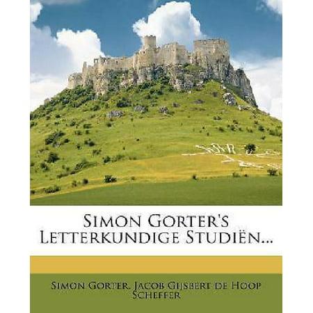 Simon Gorters Letterkundige Studien