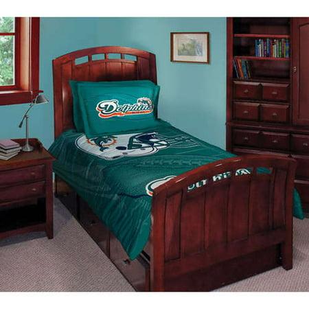 Miami Dolphins Comforter Set 045 Twin Bed Walmart Com
