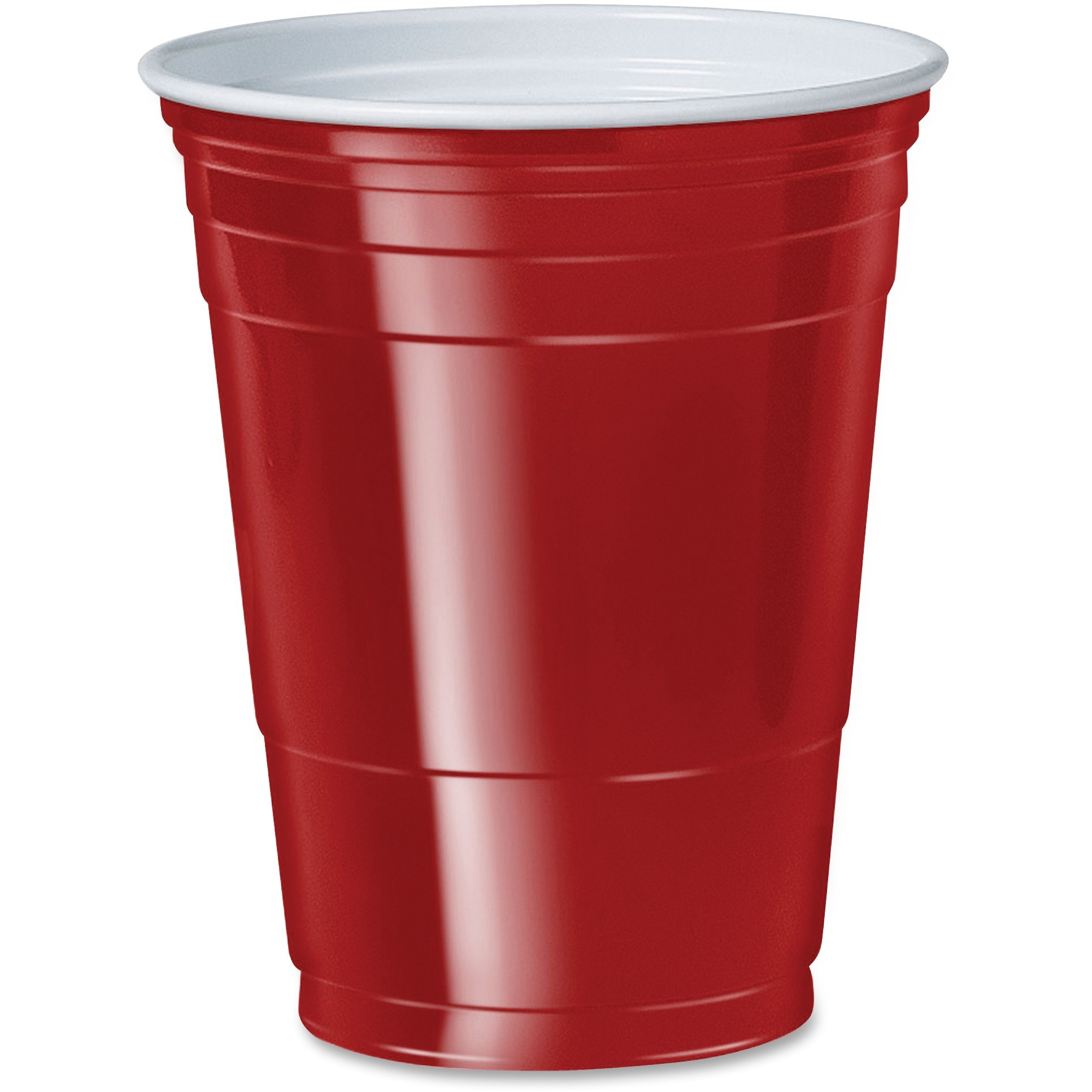 Solo, SCCP16RCT, Cup 16 oz. Plastic Cold Party Cups, 1000 / Carton, Red, 16 fl oz