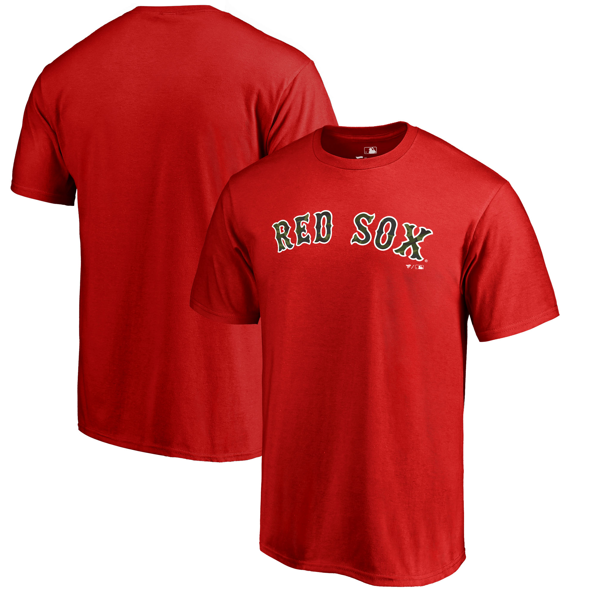 Boston Red Sox Fanatics Branded 2018 Memorial Day Wordmark T-Shirt - Red