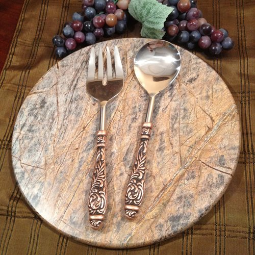 William Sheppee Aztec 2 Piece Salad Servers Set by William Sheppee