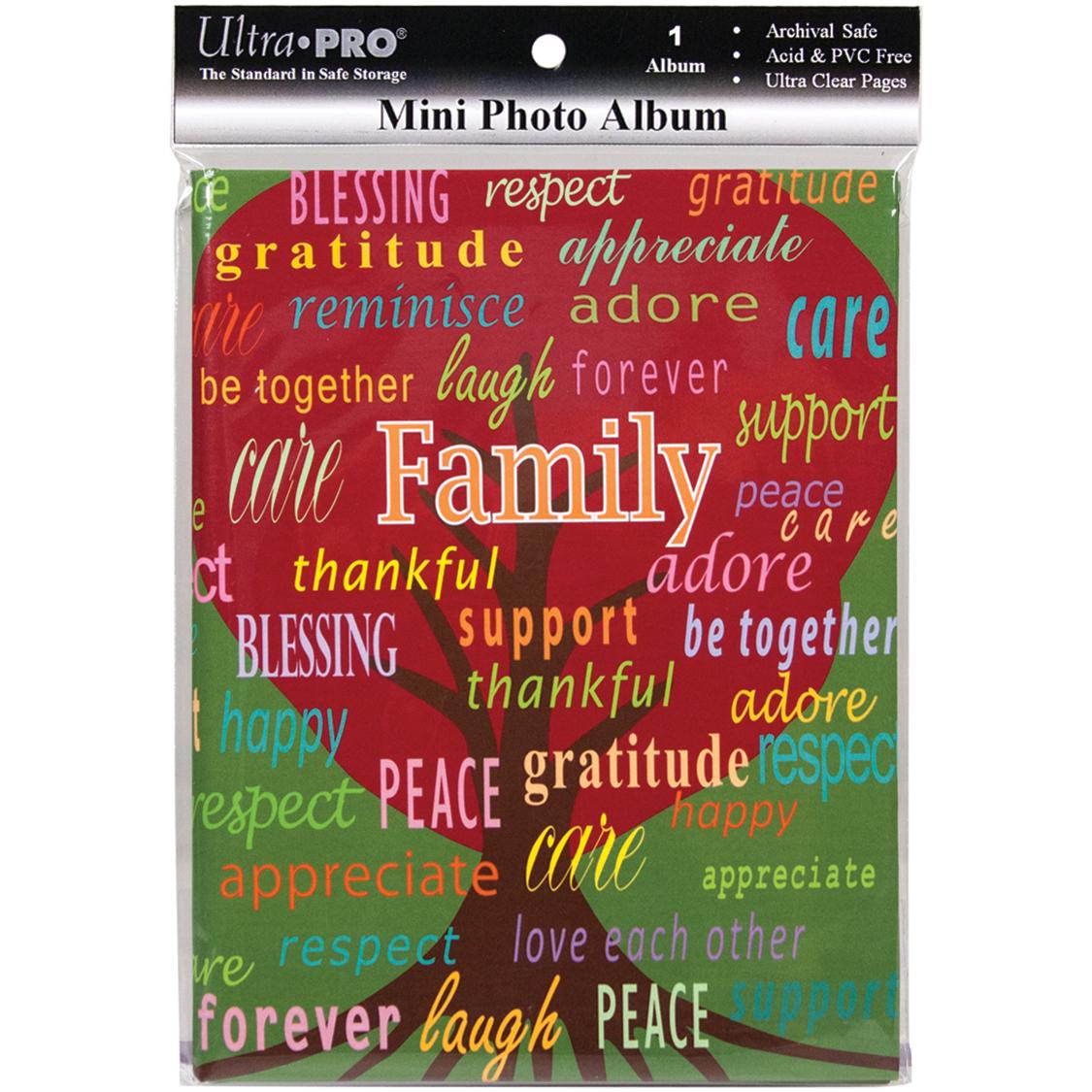 Ultra PRO 58200-R Mini Photo Album, 4 by 6-Inch, Family Multi-Colored