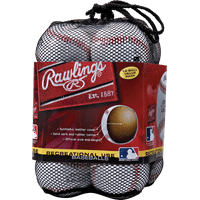 (12 Pack) Rawlings 8U Official League OLB3 Practice Youth Baseballs in Mesh Bag