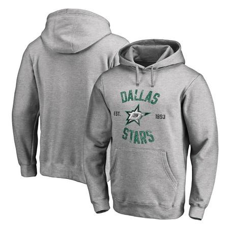 Dallas Stars Heritage Pullover Hoodie - Ash Dallas Stars Mens Sweatshirts