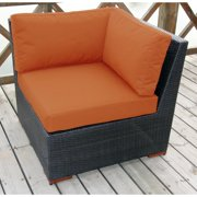 Bellini Andover Brown Wicker Sectional Corner Seating