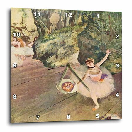 Degas Ballerina Paintings - 3dRose Edgar Degas Painting Take A Bow Of Ballerinas, Wall Clock, 10 by 10-inch