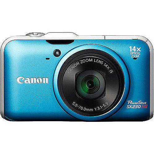 Canon PowerShot SX230 HS 12.1 MP Digital Camera - Blue