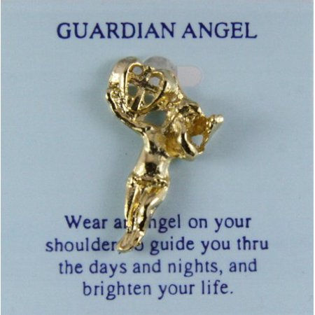 Guardian Angel Lapel Pin Tie Tack Brooch Michael Archangel Protector
