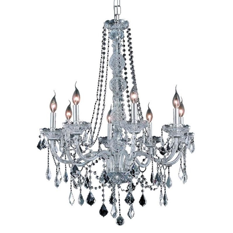 "Elegant Lighting Verona 28"" 8 Light Royal Crystal Chandelier"