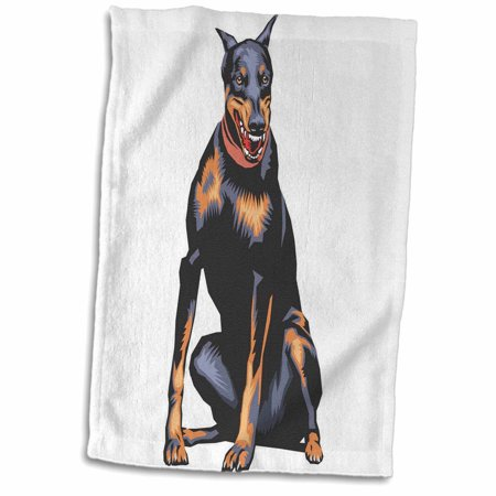 3dRose Cute and Cuddly Canine Doberman Pincher - Towel, 15 by (Information On Doberman Pinchers)