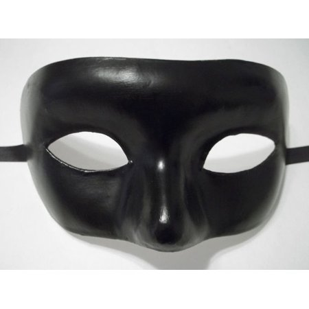 Black Venetian Costume Halloween Masquerade Paper Mache Mask](Halloween Decorations With Paper Mache)