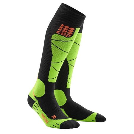 AccuCare Canada - Women's Ski Merino Socks - Black/Lime by CEP (Medi) - image 2 of 2