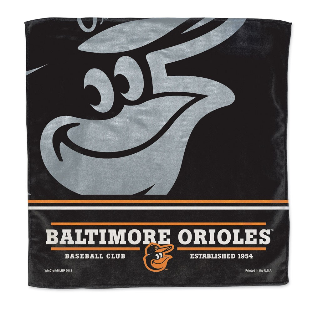 Baltimore Orioles Official MLB 16 inch x 16 inch  Micro Fiber Towel by McArthur