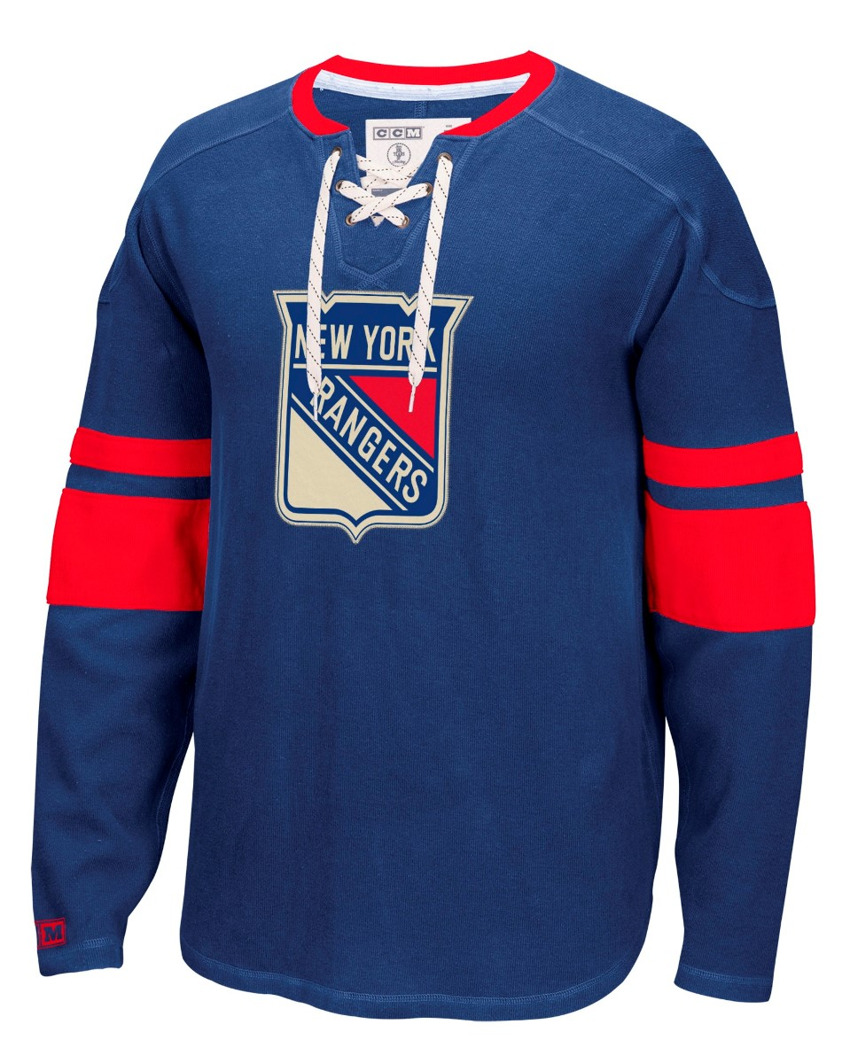 "New York Rangers CCM NHL ""Drop the Puck"" Men's Jersey Crew Sweatshirt by Reebok"