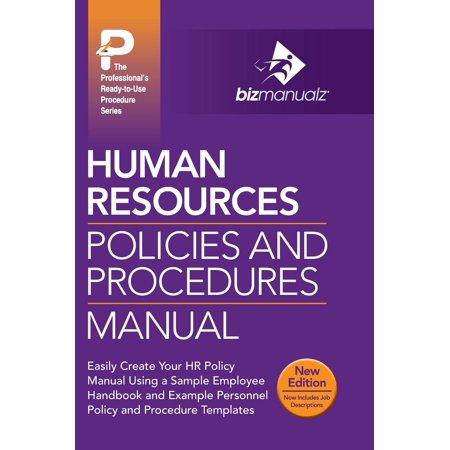 human resources policies and procedures manual walmartcom