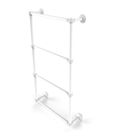 Dottingham Collection 4 Tier 30 Inch Ladder Towel Bar with Groovy Detail