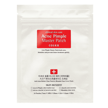 COSRX Acne Pimple Master Patch, 24 count (Best Thing For Back Acne)