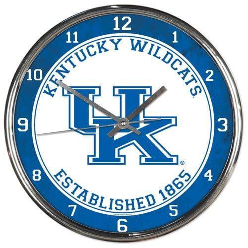 Kentucky Wildcats Round Chrome Wall Clock