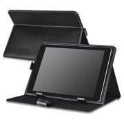 Insten 10-Inch Universal Leather Case For RCA 10 Viking Pro Pro10 / Visual Land Prestige Elite 10QS Prime 10E / Ematic Genesis Prime XL eGlide XL Pro II Tablet