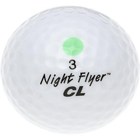 Night Flyer Golf DNG010 CL Light Up igh Visibility LED Golf Ball, - Night Golf