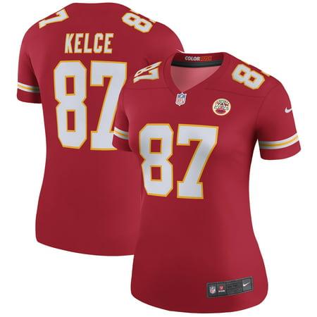 Travis Kelce Kansas City Chiefs Nike Women s Color Rush Legend Jersey - Red  - Walmart.com 805ba02b7