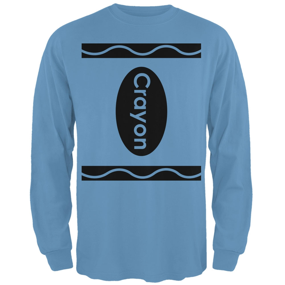 Crayon Costume Carolina Blue Adult Long Sleeve T-Shirt
