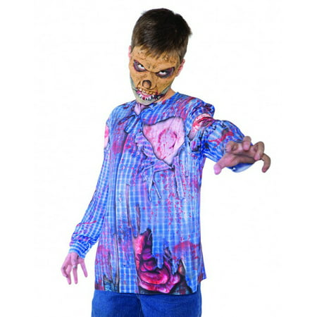 Photo Real Zombie Top Monster Horror Boys Halloween Costume - Large - Zombie Halloween Sounds