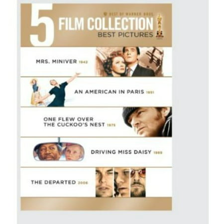 Image of Best Of Warner Bros. 5 Film Collection: Best Pictures - Mrs. Miniver / An American In Paris / One Flew Over The Cuckoo's Nest / Driving Miss Daisy / The Departed (Widescreen)