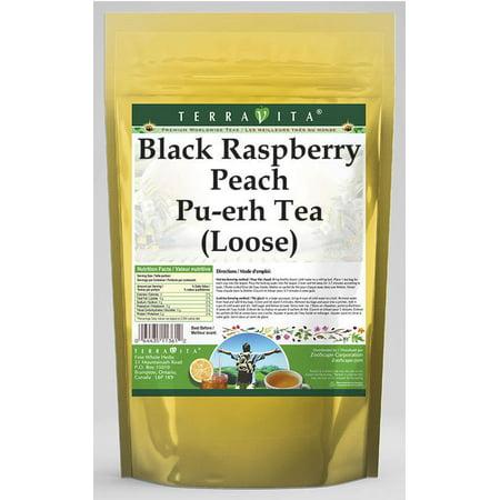 Black Raspberry Peach Pu-erh Tea (Loose) (4 oz, ZIN: 538466)