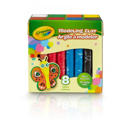 Harden Modeling Clay - Crayola Modeling Clay, Bulk Clay, Assorted Colors, 2Lbs