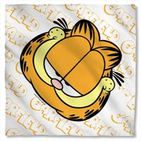 22 x 22 In. Garfield And Name Repeat Bandana - White