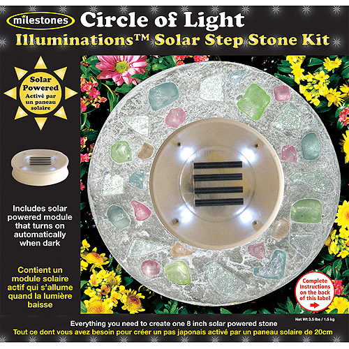 Milestones Illuminations Solar Step Stone Kit, Circle Of Light