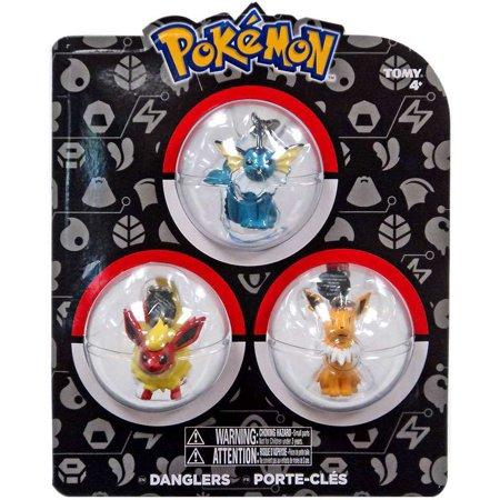 Pokemon Danglers Vaporeon Flareon Jolteon Dangler 3 Pack