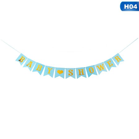 KABOER It's A Boy Girl Bunting Banner Baby Shower Party Garland Home Decors