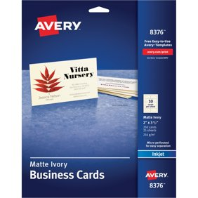 avery clean edge 88220 business card for inkjet print business